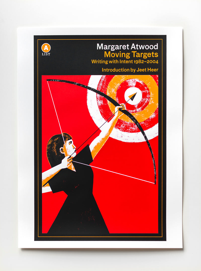 Cover of Moving Targets by Margaret Atwood Screen-Printed Poster