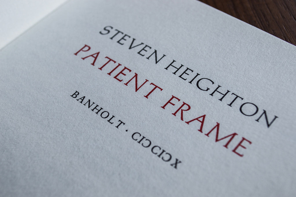 Patient Frame chapbook