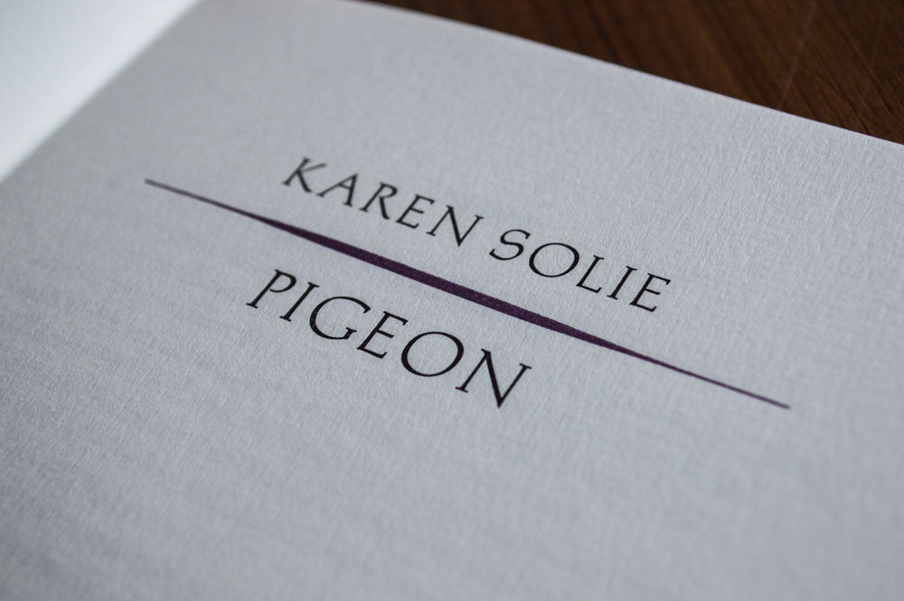 Pigeon chapbook (SIGNED)
