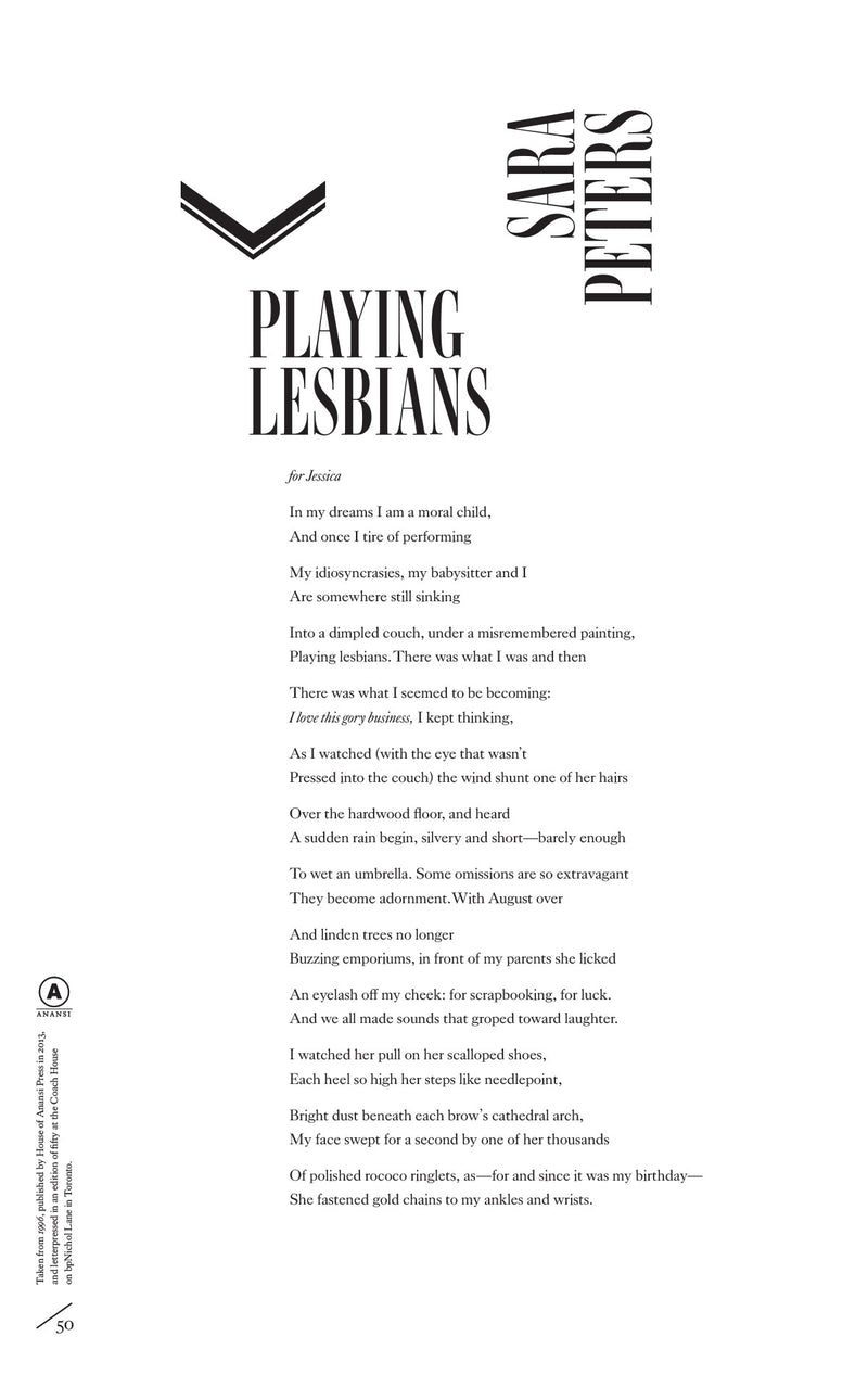 Cover of Playing Lesbians by Sara Peters