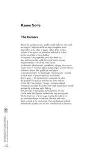 The Corners by Karen Solie