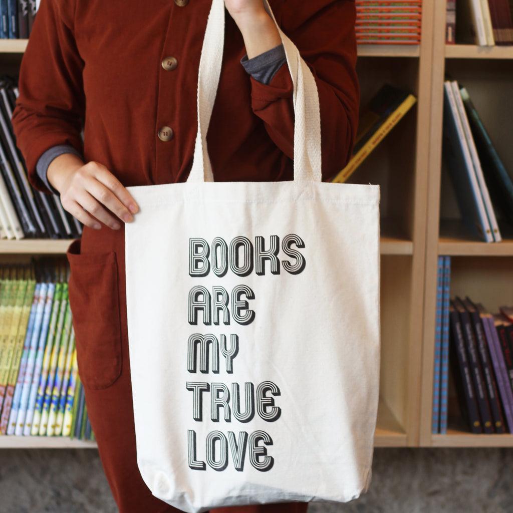 Books Are My True Love Tote Bag