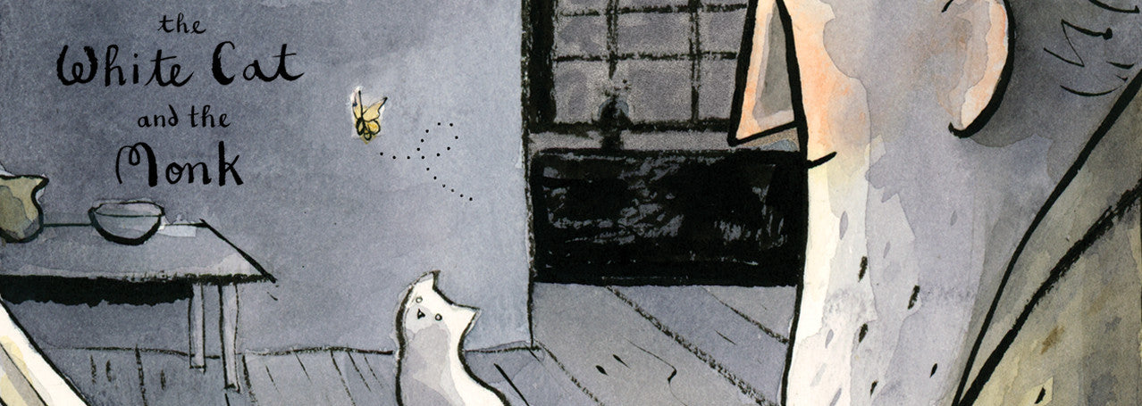 The White Cat and the Monk, Written by Jo Ellen Bogart and Illustrated by Sydney Smith
