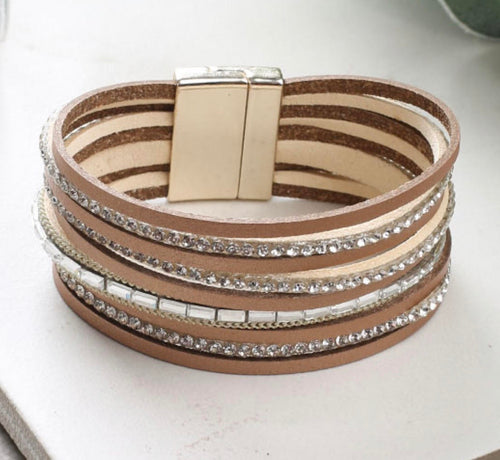 So Many Ways to Sparkle Leather Bracelet