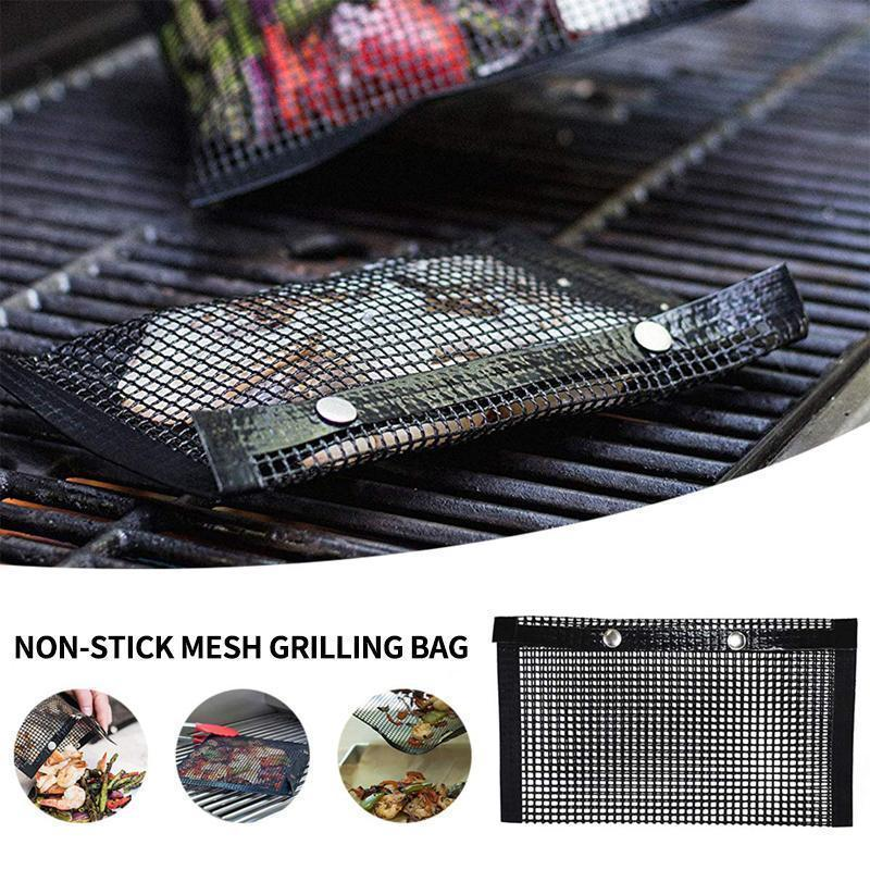 Reusable Non-Stick BBQ Mesh Grill Bags (Pack of 2)