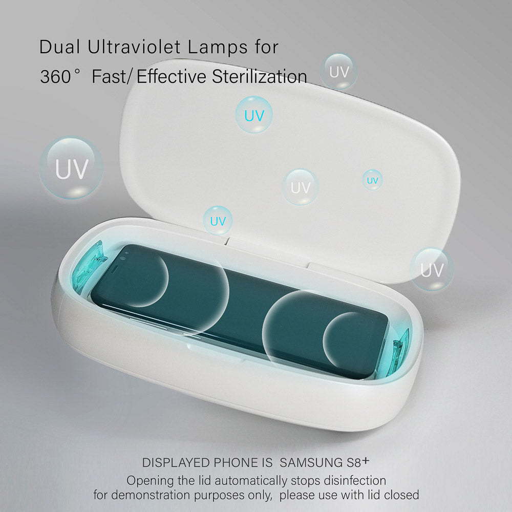 Portable UV Smartphone Sanitizer KSIX Box (+ Wireless Charging)