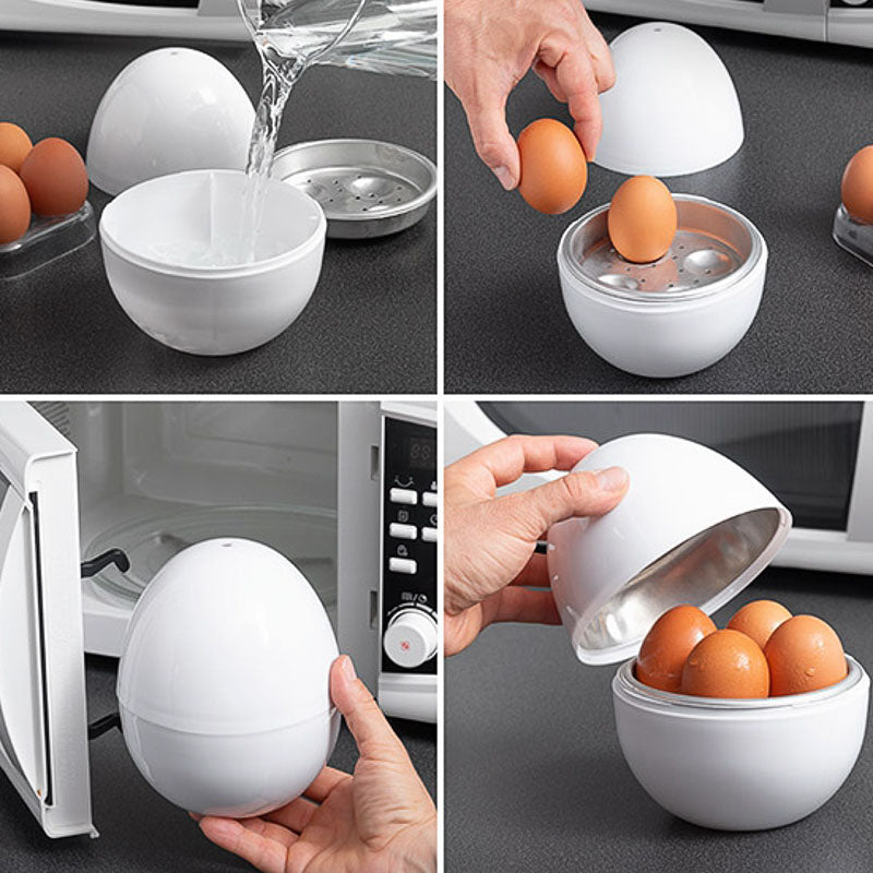 Boilegg™ Microwave Egg Boiler (with Recipe Booklet)