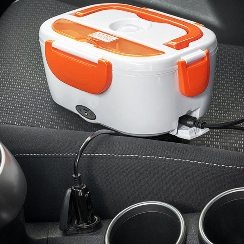 Electric Lunch Car Box™ (White/Orange)