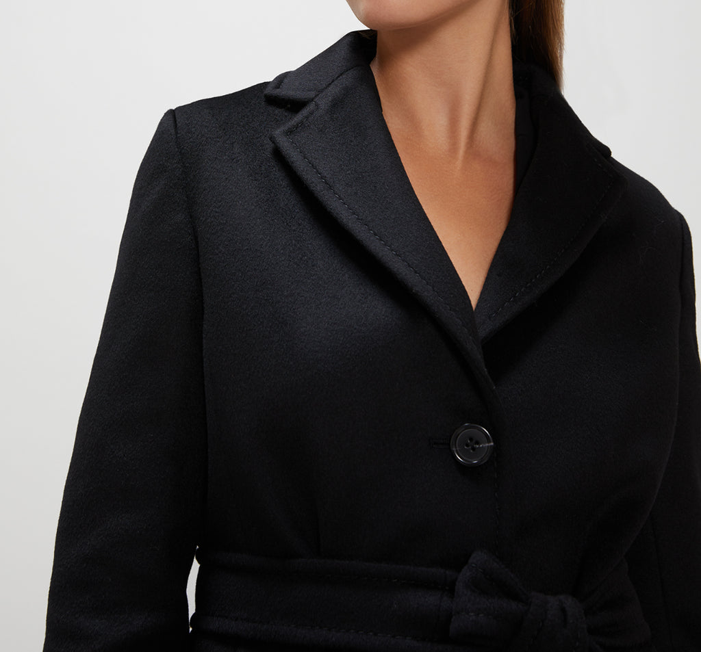 Cappotto in velour di lana Penny Black