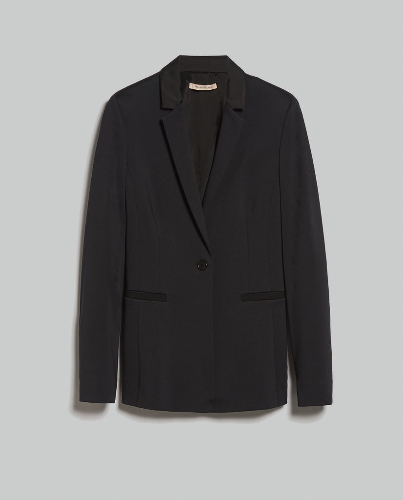 Blazer slim in jersey Penny Black