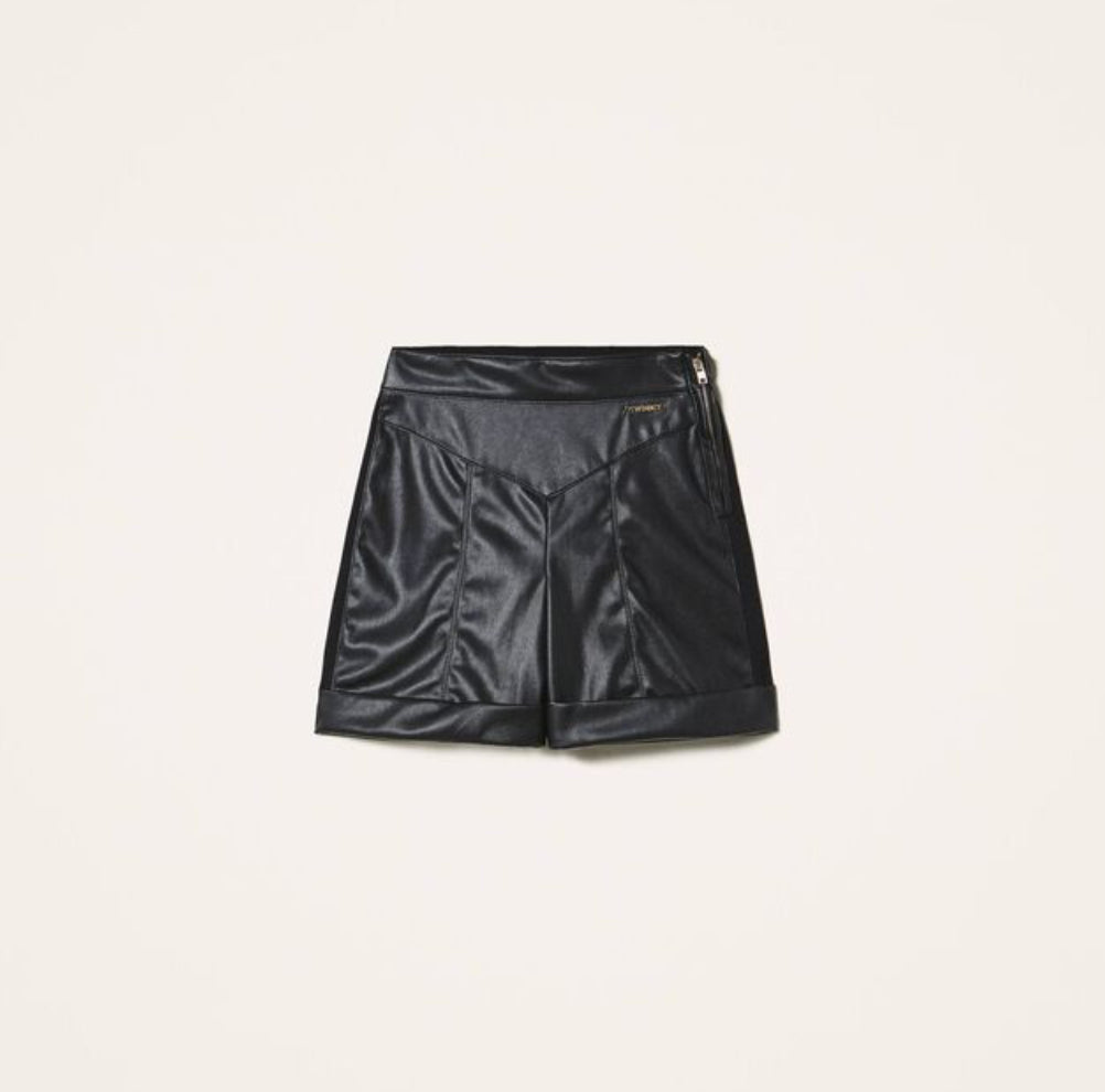 Shorts in similpelle Twin Set
