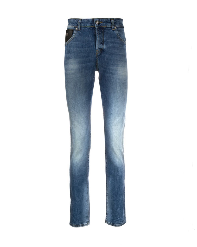 Jeans slim con scritta ''Rich'' sul retro John Richmond