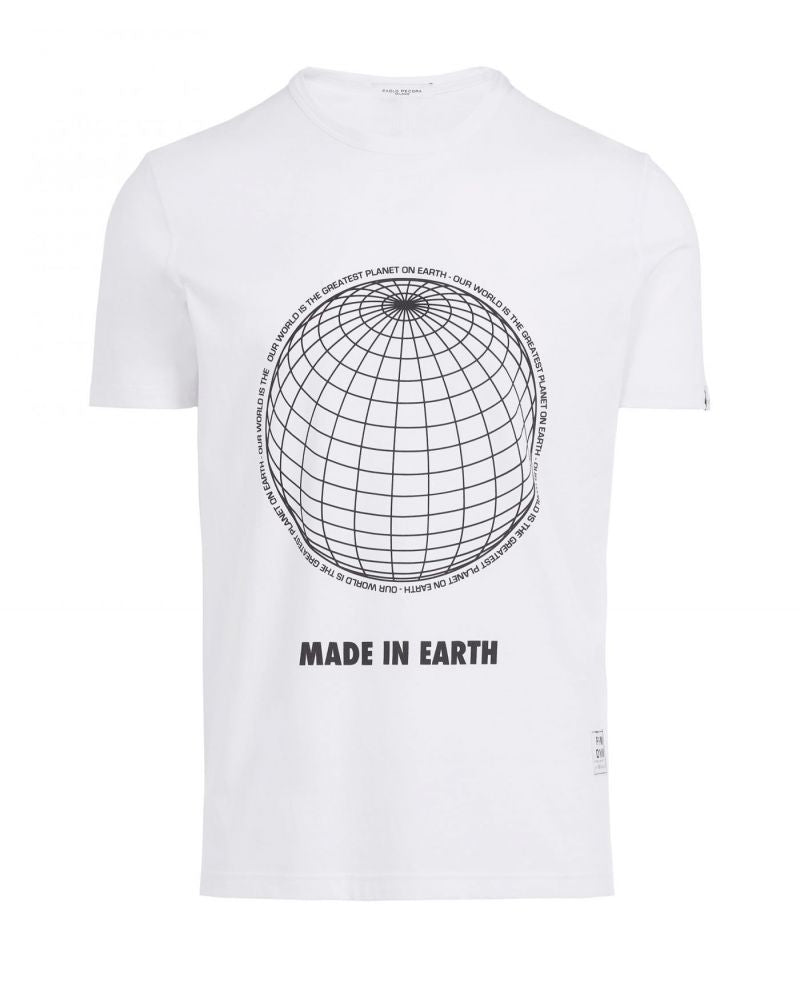 T-shirt con stampa ''MADE IN EARTH'' Paolo Pecora
