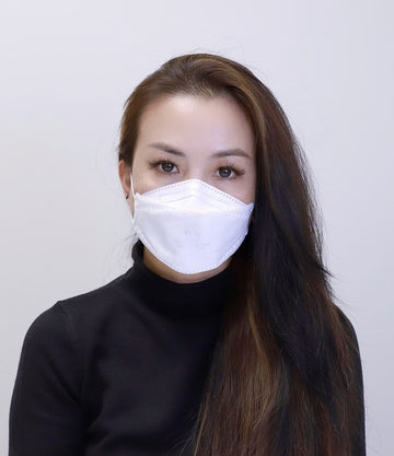 White Particulate Respirator 3D Kn95 FACE MASK WILLOW LEAF SHAPE (50 PCS)