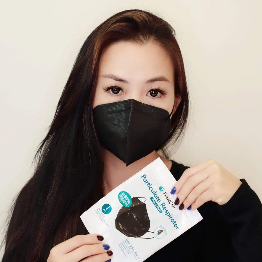 Black KN95 3D Face Mask Individually Packed x 10