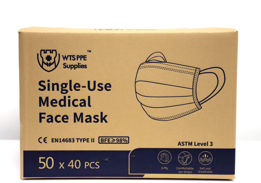 Watchtower Supplies Face Mask Single-Use Disposable Medical Face Mask ASTM 3 LEVEL (50pcs)