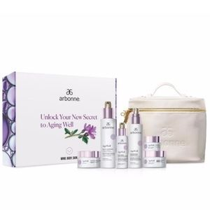 NEW! Special Offer Arbonne AgeWell Restoring Set with Bag