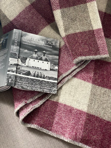 MacAusland's Checked Throw - Maroon & Grey