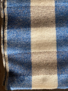 MacAusland's Checked Throw - Royal Blue & Grey
