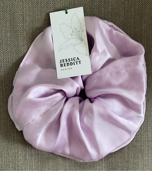 Oversized Silk Scrunchie - Mauve
