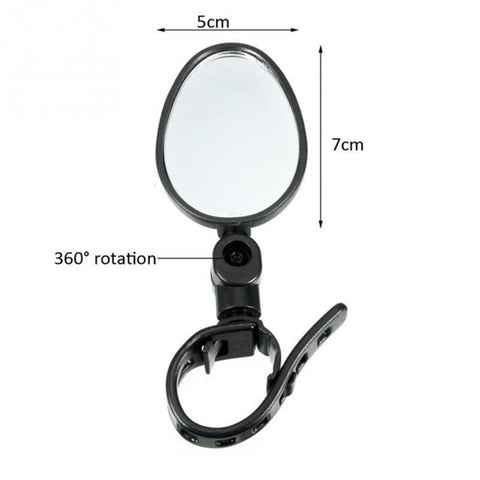 2Pcs Bicycle Mirror Handlebar Rearview Mirror Wide Angle 360 degree Rotate For Mountain Bike Bicycle Cycling Accessories