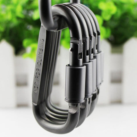 1pcs Carabiner Travel Kit Camping Equipment Alloy Aluminum Survival Gear Camp Mountaineering Hook Mosqueton Carabiner