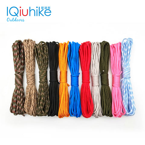 5M 10M 20M 31M Paracord 550 Paracord Parachute Cord Lanyard Rope Mil Spec Type III 7 Strand Climbing Camping Survival Paracord