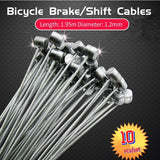 10pcs Road MTB Mountain Bike Bicycle Fixed Gear Brake Derailleur Line Shift Cable Wire Steel Cycling Equipment bisiklet aksesuar