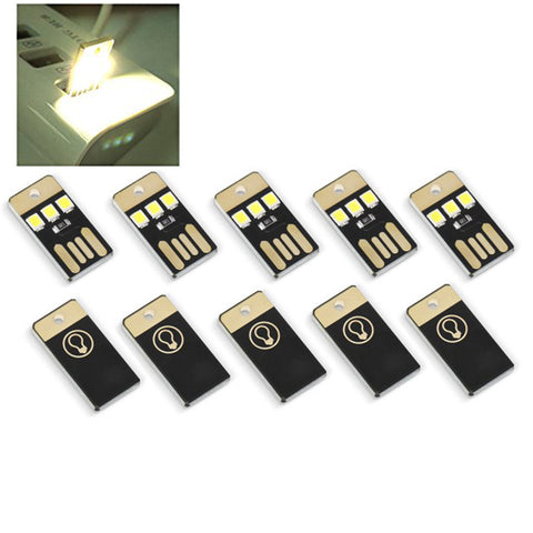 5Pcs Mini USB Power LED Light Night Camping Eqpment for Power Bank Computer Ultra Low Power 2835 Chips Pocket Card Lamp