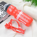 750ML Mountain Bike Bicycle Cycling Water Drink Bottle+Holder Cage Outdoor Sports Plastic Portable Kettle Water Bottle Drinkware