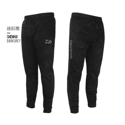 Daiwa Men Outdoor Sports Pants Camouflage Fishing Pants Anti-static Anti-UV Quick Drying Windproof Breathable Pants