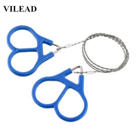VILEAD Outdoor Stainless Steel Survival Line Wire Saw 4 Strands Survival Cable Chain Fretsaw  Equipment Chainsaws Outdoor-tools