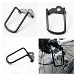 1Pcs Adjustable Steel Black Bicycle Mountain Bike Rear Gear Derailleur Chain Stay Guard Protector Outdoor Cycling Accessories