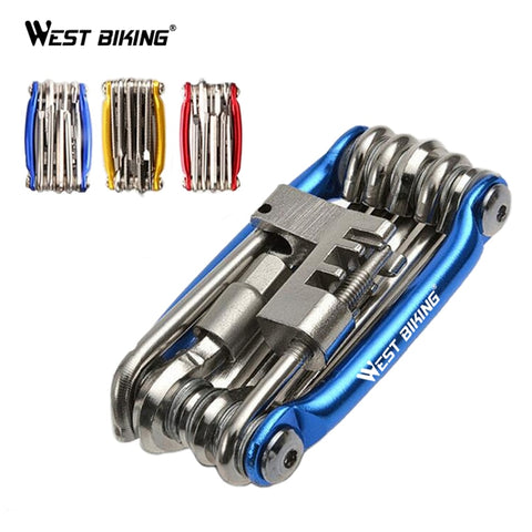 WEST BIKING Multitool Bicycle Repair Tools Chain Hex Spoke Wrench Screwdriver 10 In 1 Kit Set Road MTB Bike Cycling Multi Tools