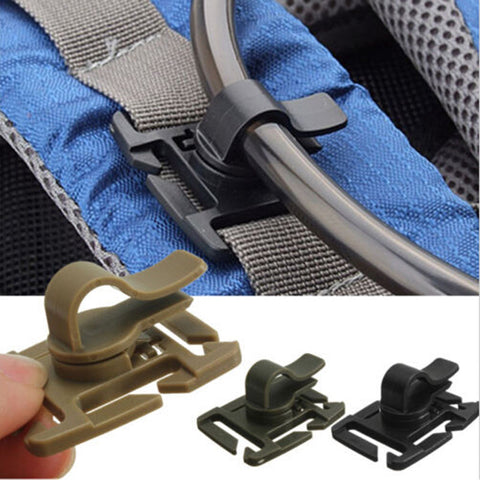 2 PCS Drinking Tube Clip Rotatable Molle Hydration Bladder Drinking Tube Trap Hose Webbing Clip Molle Fits