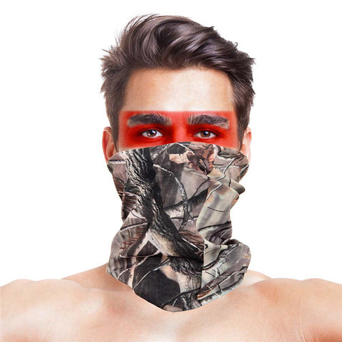 High-Jump Camouflage Scarf Bandana Ciclismo Men Women Face Mask Tactical Outdoor Magic Headwear Camping Hiking Neck Warmer Scarf