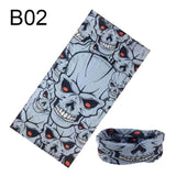 Windproof Skull Bandana Hiking Scarves Men Women Cycling Face Mask Sports Arm Antiperspirant Towel Elastic Force Neck Scarf 2019