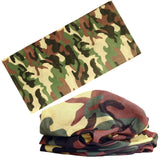 21 Style Camouflage Polyester Scarves Face Dust Mask Outdoor Sport Cycling Bandanas Camping Hiking Washouts Headwear Magic Scarf