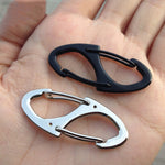 5Pcs Locking Carabiner Keychain 8 Ring Quick Release Clip Buckle Protable Quickdraws Hiking Climbing Camping Tool Gear