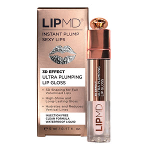 NEW LIPMD 3D EFFECT ULTRA PLUMPING LIP GLOSS – BUY ONE GET ONE FREE