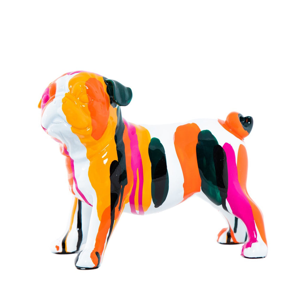 Rainbow Art Dog ceramic