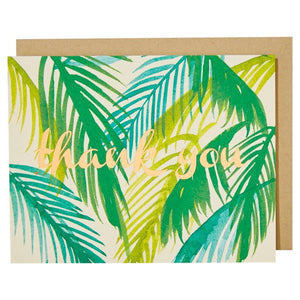 Load image into Gallery viewer, Palms Foil Thank You Foil Blank Card