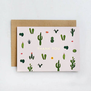 Cacti Thank You Foil Blank Card - Just Fabulous Galleries