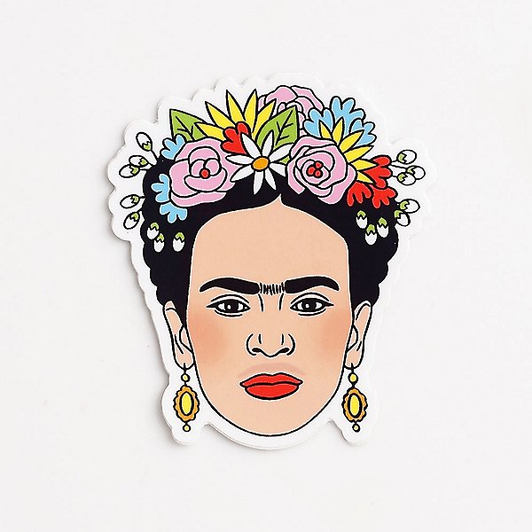 Frida Flower Crown - Die Cut Sticker sticker