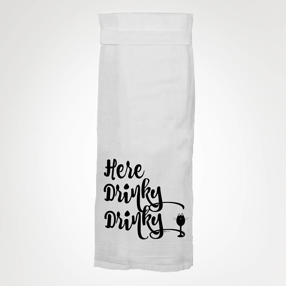 Here Drinky Drinky Tea Towel towel