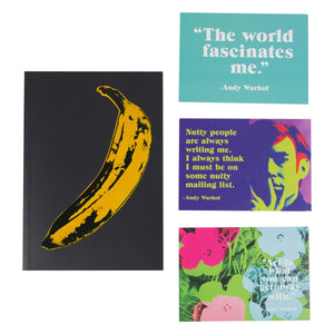 Warhol Banana Journal & Postcard Set journal