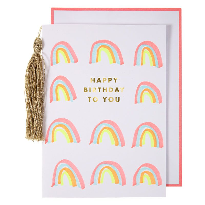 Load image into Gallery viewer, Rainbows & Tassel Card greeting card