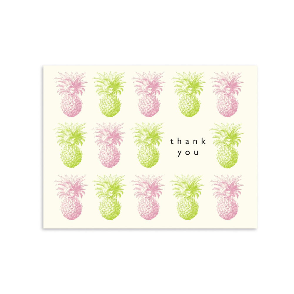 Thank You Pineapple Box of 8 greeting card
