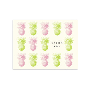 Load image into Gallery viewer, Thank You Pineapple Box of 8 greeting card