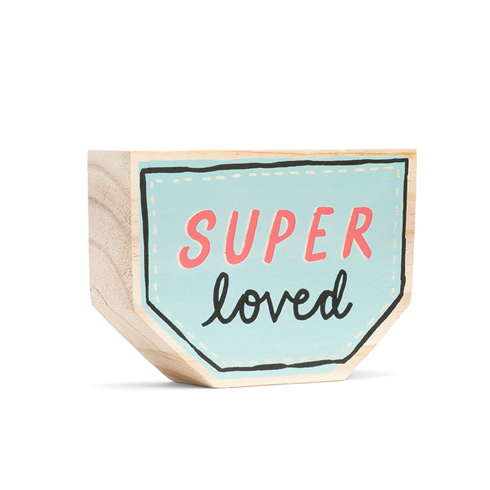 Load image into Gallery viewer, Super loved / wood sign
